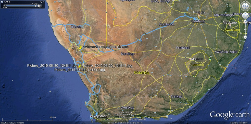 GPS Tracker Südafrika 2015